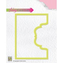 Skæring og prægning stencils: Glidende kort / Sliding Card Denne øverste del ornamental-2