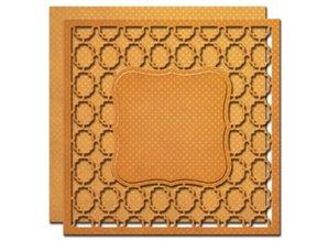 Spellbinders und Rayher Stempling og prægning stencil, 2 Spitzedeckchen med rammemønstre