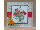 Spellbinders und Rayher Stamping and Embossing stencil, 2 Spitzedeckchen with frame patterns