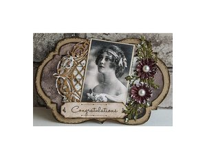 Creative Expressions Punching and embossing template, Lattice Arched Adornment