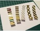 BASTELZUBEHÖR / CRAFT ACCESSORIES Argento metallizzato lamina d'oro e