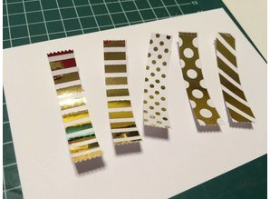 BASTELZUBEHÖR / CRAFT ACCESSORIES Metallic foil silver and gold