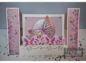 Die'sire Punching and embossing template Diesire: Butterfly Dreams