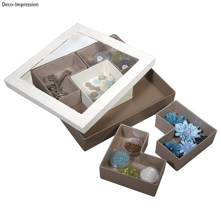 Objekten zum Dekorieren / objects for decorating 1 ordenar Quadradisch, para los trabajos de acabado