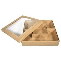 1 Sortierbox Quadradisch, zum bemalen und Dekorieren