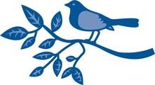 Marianne Design Stanz- und Prägeschablone, Vogel auf ein Zweig