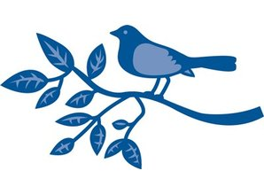Marianne Design Stamping and Embossing stencil, bird on a branch