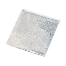 Película de transferencia, hoja de 10x10 cm, 30 hojas, brillo de plata