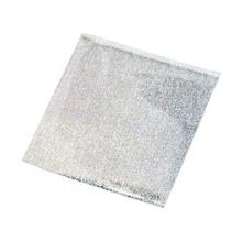 BASTELZUBEHÖR / CRAFT ACCESSORIES Pellicola di trasferimento, fogli 10x10 cm, 30 fogli, brillantini argento