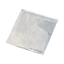 BASTELZUBEHÖR / CRAFT ACCESSORIES Transfer film, sheet 10x10 cm, 30 sheets, glitter silver