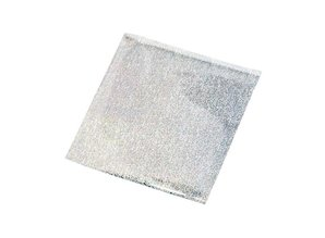BASTELZUBEHÖR / CRAFT ACCESSORIES Transfer film, sheet 10x10 cm, 30 sheets, glitter silver
