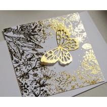 Transferfolie, Blatt 10x10 cm, 30 Blatt, gold