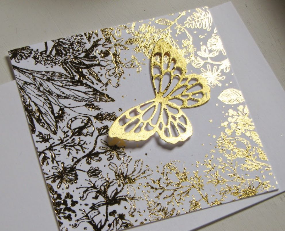 Bastelzubehör: metallic foils and accessories transfer film, sheet 10x10 cm, 30 sheets, gold