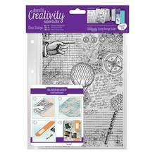 Docrafts / Papermania / Urban Transparent stamps, Steampunk Background