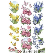 Die cut sheets with spring motifs