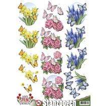 Láminas troqueladas con motivos primavera