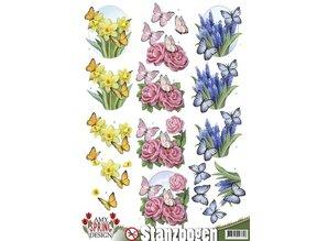 Amy Design Láminas troqueladas con motivos primavera