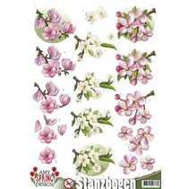Die cut sheets with floral motifs
