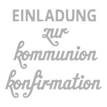 Estampación kit de plantilla: Confirmación Texto / Comunión