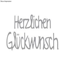 Spellbinders und Rayher Stamping Kit modello: Congratulazioni testo