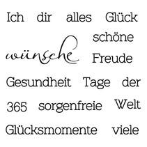 Transparent Stempel: Text mit verschiedene Wünsche