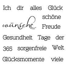 Stempel / Stamp: Transparent Transparent Stempel: Text mit verschiedene Wünsche