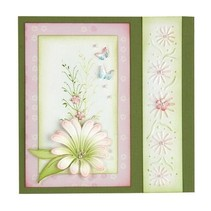 Stamping and Embossing stencil, the multi-flower 9 Chrysant