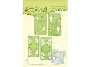 Leane Creatief - Lea'bilities Stamping and Embossing stencil, bird