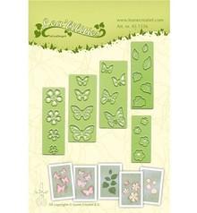 Leane Creatief - Lea'bilities Stempling og prægning stencil, blomster og sommerfugle