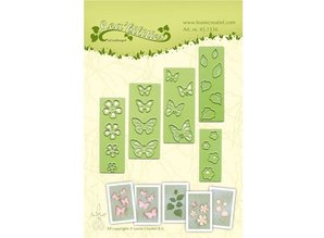 Leane Creatief - Lea'bilities Stamping and Embossing stencil, flowers and butterflies