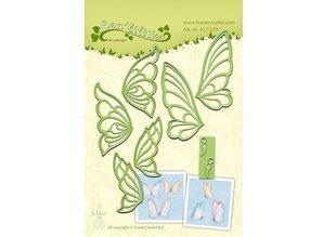 Leane Creatief - Lea'bilities Punching and embossing template, butterflies