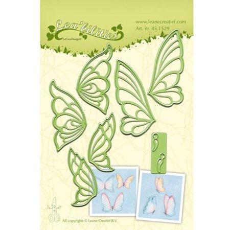 Leane Creatief - Lea'bilities Perforación y la plantilla de estampado, mariposas