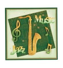 Leane Creatief - Lea'bilities Stanz- und Prägeschablone, Saxophone