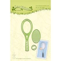Stempling og prægning stencil, Tennis
