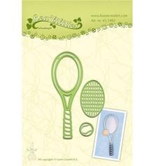 Leane Creatief - Lea'bilities Stampaggio e goffratura stencil, Tennis