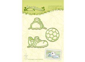 Leane Creatief - Lea'bilities Stamping and Embossing stencil, Football