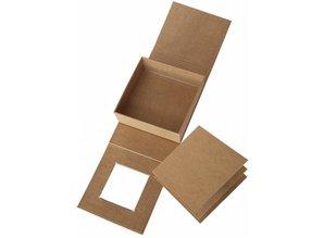 Objekten zum Dekorieren / objects for decorating Papel maché caja de tapa abatible, 13.3 x 13.3 cm x 5.4 cm cm, parte interior suelta