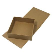 Papel maché caja de tapa abatible, 18x17,5x5,5 cm, parte interior suelta