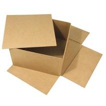 Caja de papel mache, Cover Me, 20x20x11 cm