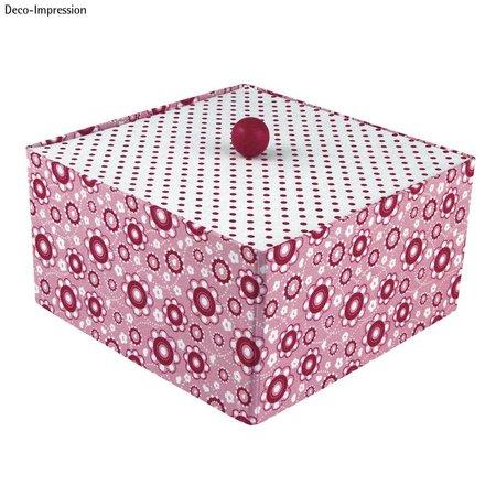 Objekten zum Dekorieren / objects for decorating Papmache kasse, Cover Me, 20x20x11 cm