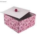 Objekten zum Dekorieren / objects for decorating Caja de papel mache, Cover Me, 20x20x11 cm
