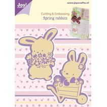 Skæring og prægning stencils, 2 Spring Bunny