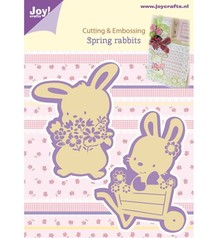 Joy!Crafts und JM Creation Taglio e goffratura stencil, 2 Spring Bunny