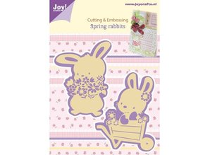 Joy!Crafts und JM Creation Cutting and embossing stencils, 2 Spring Bunny