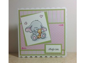 Wild Rose Studio`s A7 stamp set Bella med Teddy
