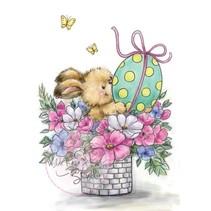 Sellos transparentes conejito de Pascua