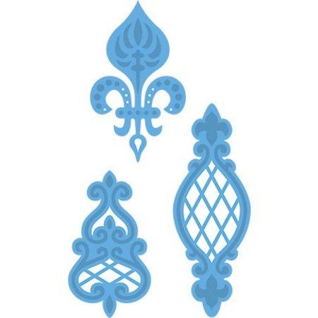 Marianne Design Corte y estampado en relieve plantillas, adornos vintage Anja 3