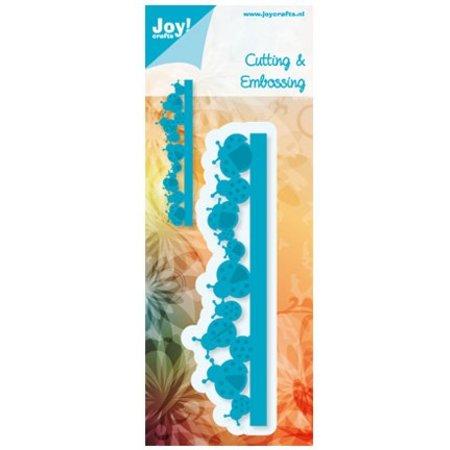 Joy!Crafts und JM Creation Skæring og prægning stencils, grænsen med mariehøne