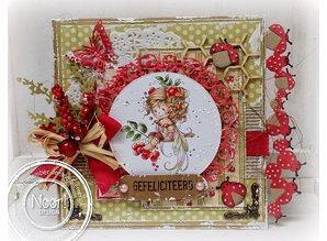 Joy!Crafts und JM Creation Cutting and embossing stencils, border with ladybug