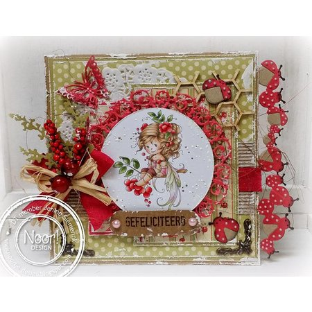 Joy!Crafts und JM Creation Corte y estampado en relieve plantillas, frontera con mariquita